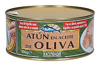 Тунец в оливковом масле Hacendado Atun en Aceite de Oliva 900 г (шт.), фото 1