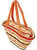 Яркая женская сумка-корзина (два цвета), фото 4