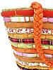 Яркая женская сумка-корзина (два цвета), фото 5