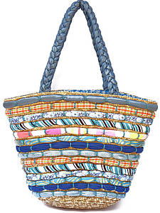 Яркая женская сумка-корзина (два цвета)