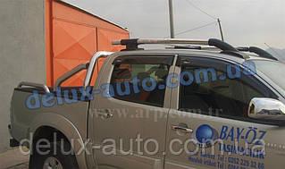 Рейлинги на крышу с перемычками на Toyota Hilux 2007+ Релинги с поперечинами в сборе на Тойота Хайлюкс 2007+