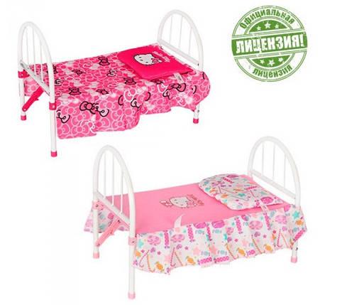 Кроватка для кукол Hello Kitty 00027 железная, фото 2