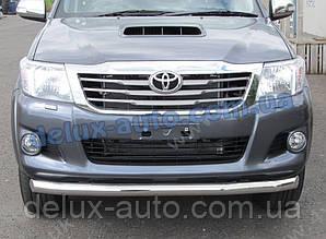 Труба передняя одинарная Тойота Хайлюкс 2007-2011 Защита переднего бампера цвет никель для Toyota Hilux 2007+