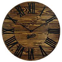 Настенные Часы Лофт Деревянные Glozis Kansas Mokko (60 см) [Дерево, Металл]