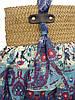 Женская сумка из ткани и рафии, фото 2