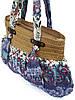 Женская сумка из ткани и рафии, фото 3
