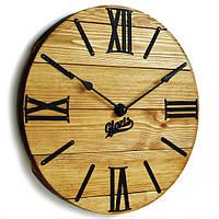 Настенные Часы Лофт Деревянные Glozis Nevada Gold (40 см) [Дерево, Металл]