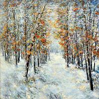 Картины маслом пейзажи (Зима)