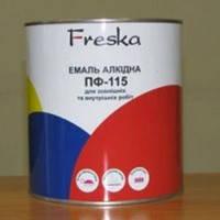 Эмаль алкидная Фреска ПФ-115 Д, темно-серая, 0,9 кг
