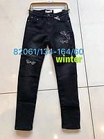 Утепленные джинсовые брюки для девочек  Seagull 134-164 p.p.