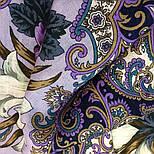 Сказки летней ночи 1862-1, павлопосадский платок шерстяной с шелковой бахромой, фото 6