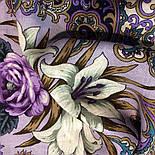 Сказки летней ночи 1862-1, павлопосадский платок шерстяной с шелковой бахромой, фото 5