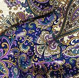 Сказки летней ночи 1862-1, павлопосадский платок шерстяной с шелковой бахромой, фото 7