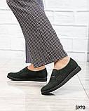 39 размер! Стильные замшевые  женские туфли лоферы зеленые, фото 2