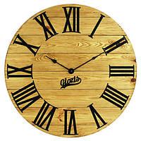 Настенные Часы Деревянные Glozis Kansas Gold (60 см) [Дерево, Металл, Открытые]