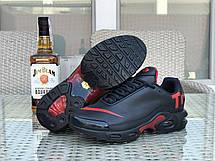 Мужские кроссовки Nike air max TN,темно синие с красным, фото 3