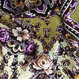 Серебряный ручей 1851-9, павлопосадский платок шерстяной с шелковой бахромой, фото 5