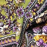 Серебряный ручей 1851-9, павлопосадский платок шерстяной с шелковой бахромой, фото 6