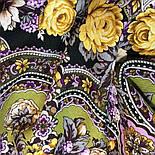 Серебряный ручей 1851-9, павлопосадский платок шерстяной с шелковой бахромой, фото 4