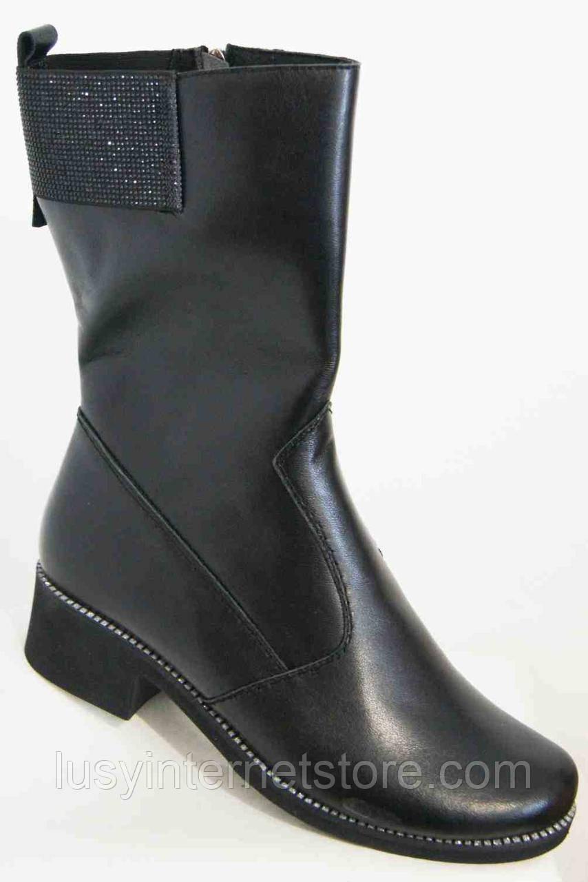 Сапожкидемисезонные кожаные женские большогоразмера от производителя модель МИ5312К