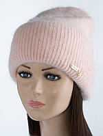 Женская шапка с отворотом Cappuchino цвет абрикосовый
