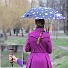 Уценка. Зонт самурая с принтом Сакура