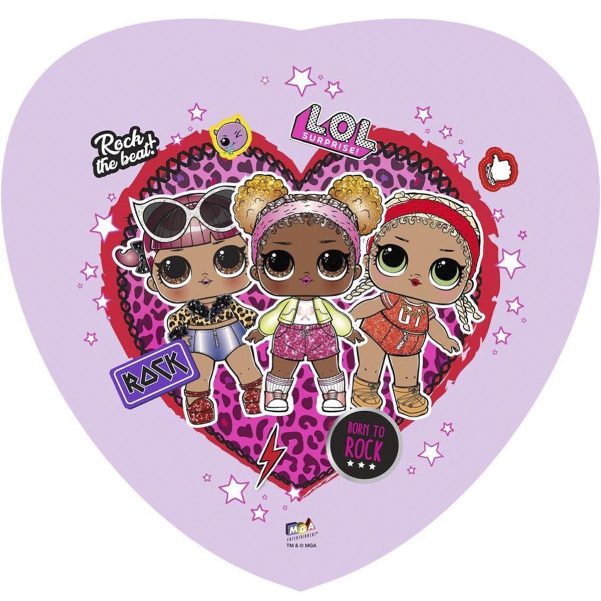 """Фольгированные шары с рисунком 18"""" сердце лол рок-группа lol"""