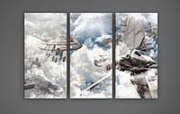 Картина модульная постер на холсте Звездные войны Star Wars 90х60 из 3х частей