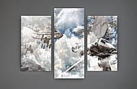 Настенный декор картина на холсте Звездные войны Star Wars 90х70 из 3х частей