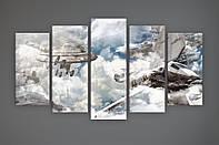 Оригинальный декор на стену картина на холсте Звездные войны Star Wars 125х70 из 5 частей