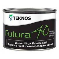 Фарба напівглянцева  для зовнішніх і внутрішніх поверхонь Teknos Futura 40, Б 1, 9 л