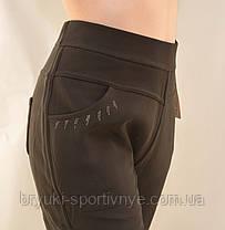 Брюки женские на меховой подкладке в больших размерах 5XL & 6XL Лосины зимние Ласточка - батал, фото 2