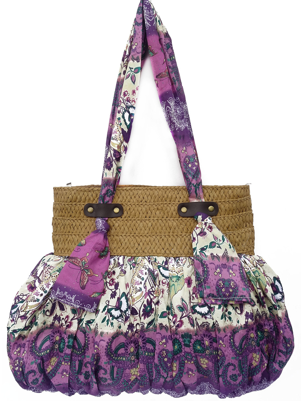 Летняя женская сумка из ткани