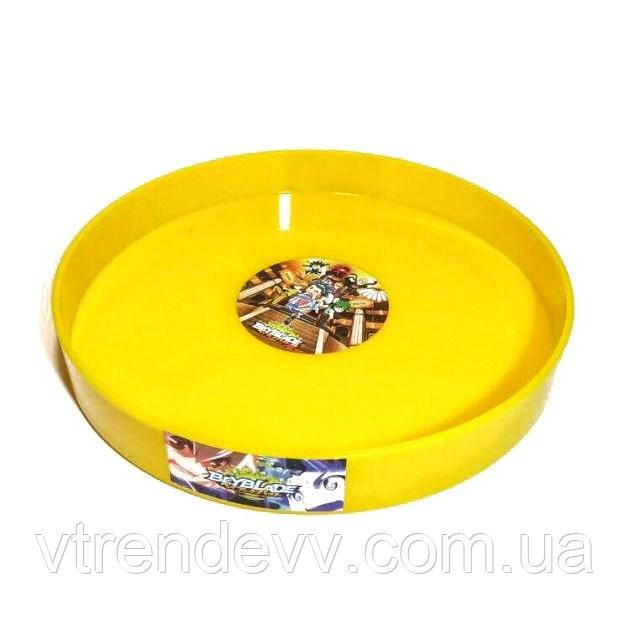 Арена круглая Бейблэйд Beyblade 35 см желтая