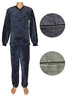 Пижама мужская махровая 18301 Classic Grey вельсофт