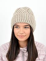 Молодежная шапка на флисе 3408 лен