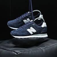 Женские кроссовки New Balance 574 dark Blue, фото 1