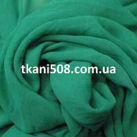 Ткань   Шифон однотонный(Зеленая Бирюза)