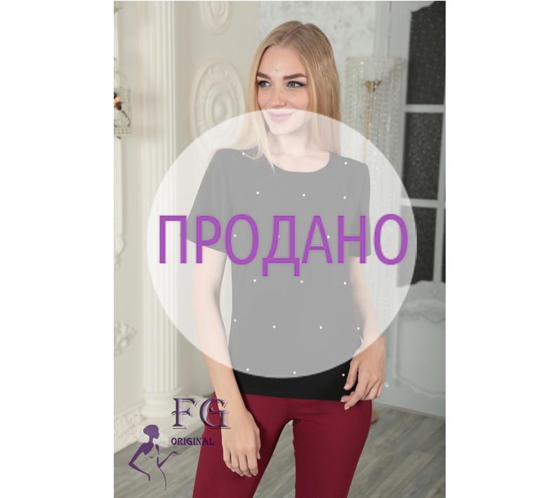 """Летняя блузка """"Элви"""" с бусинами"""