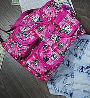 Рюкзак цветной малиновый код 7-982