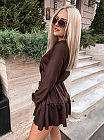 Женское осеннее теплое платье  ВХ9371, фото 1