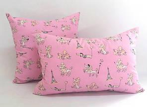 Детская силиконовая подушка бязь 50х50 в садик в кроватку, фото 2
