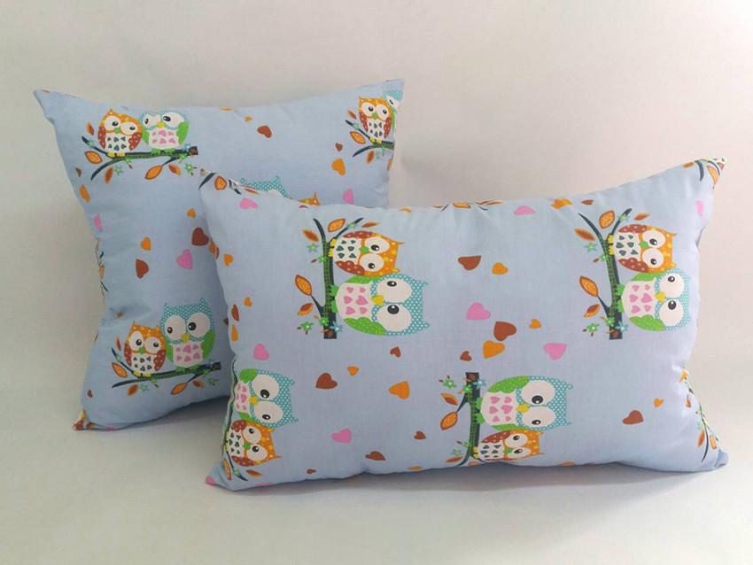 Детская силиконовая подушка бязь 50х50 в садик в кроватку