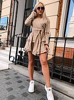 Женское осеннее теплое платье  ВХ9348, фото 1