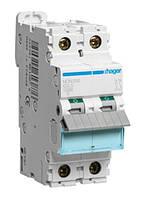 Автоматический выключатель In=16А 2п С 10kA 2м Hager (NCN216)