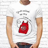 "Парные футболки Push IT с принтом ""I just called to say I love you"""