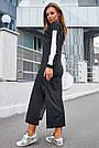Чёрное платье спортивное длинное женское с люрексом повседневное молодёжное, фото 7