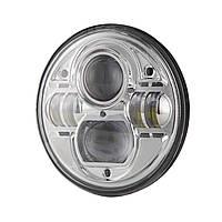 Фара мото LED 7 дюймов DL-J053 (Chrome) Нива, УАЗ 469, ГАЗ 24, ВАЗ 2101, Хаммер, FJ ruiser, Harley-Davidson