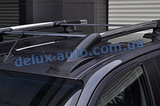 Рейлинги на крышу с перемычками на Тойота Хайлюкс 2015+ Релинги с поперечинами в сборе на Toyota Hilux 2015+