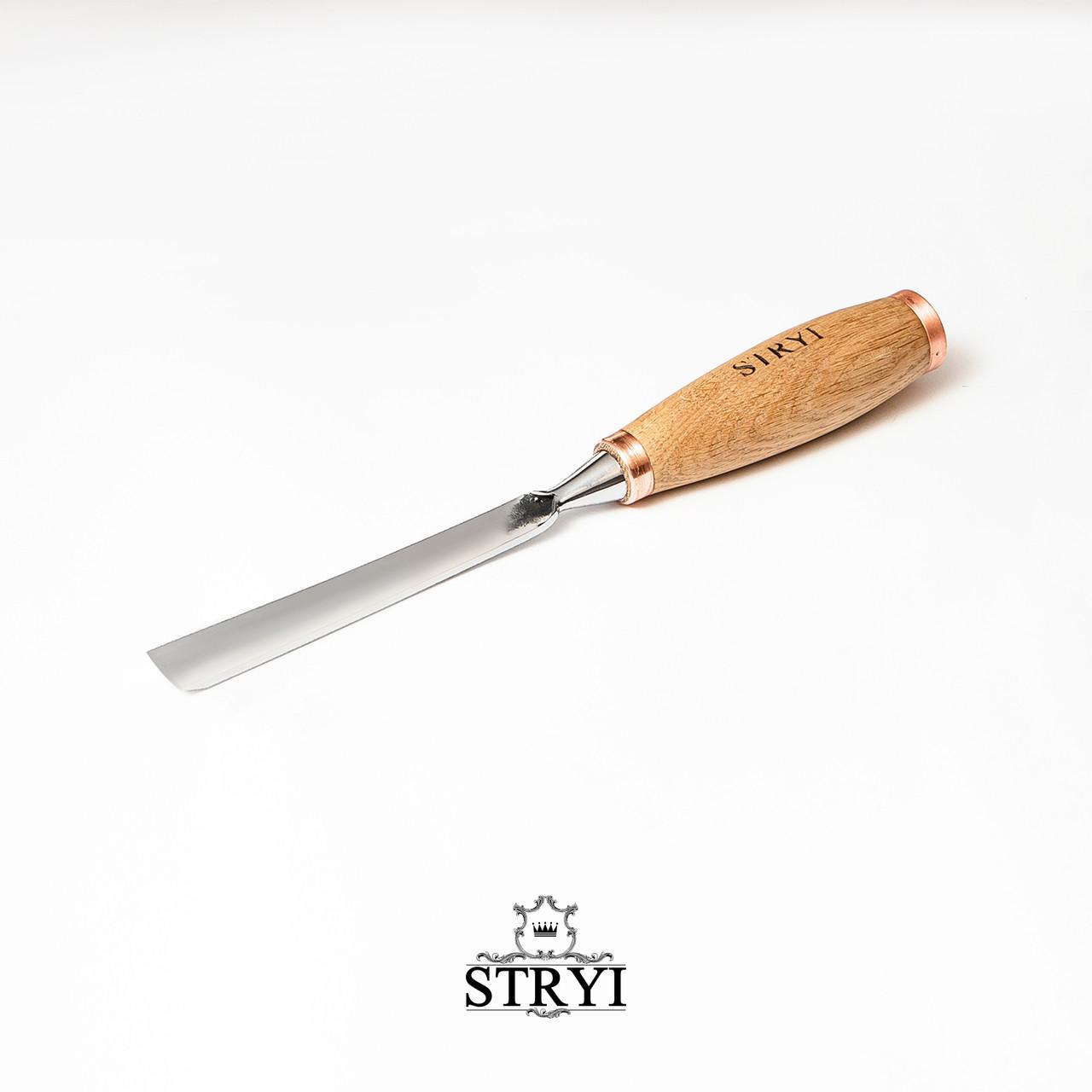 Отлогая ударная стамеска20мм №7 для резьбы по дереву от производителя STRYI